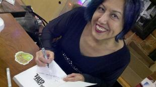 Alice Bag signing and performance, Los Angeles, Dec 2011